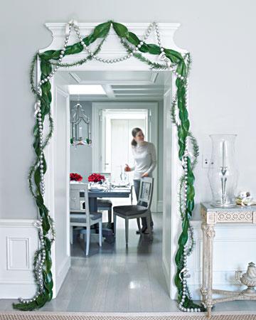 Vihreä ovikoriste Martha Stewart