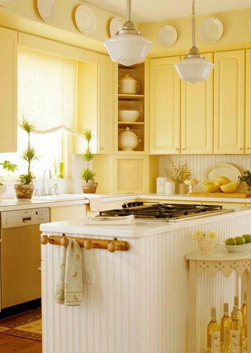 vaaleankeltainen keittiö
