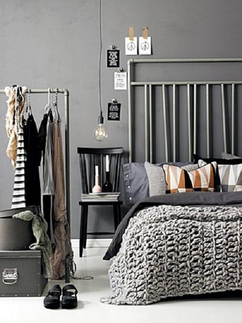 Harmaa makuuhuone 1